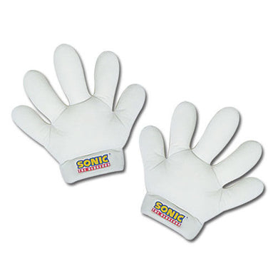 Great Eastern GE-8805 Sonic the Hedgehog: White Sonic Plush Gloves (Set of 2)