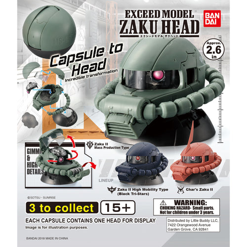 Gundam Exceed Model Zaku Head Series 1 Figure Gashapon (Bag of 50 Capsules)