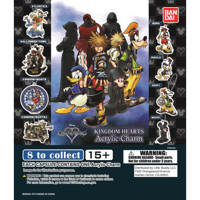 Kingdom Hearts Acrylic Keychain Charm Gashapon (Bag of 50 Capsules)