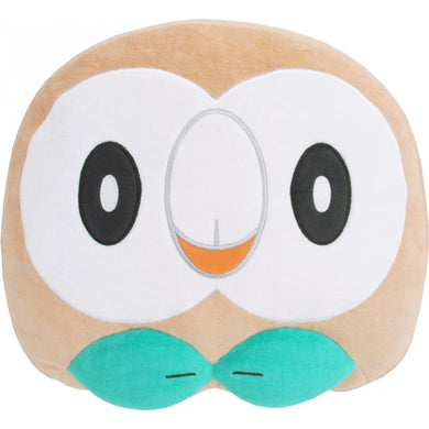 Sanei Pokemon All Star Collection PZ19 Rowlet Face Mochifuwa Cushion Plush, 10