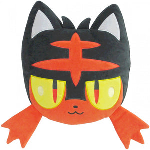 Sanei Pokemon All Star Collection PZ20 Litten Face Mochifuwa Cushion Plush, 12""