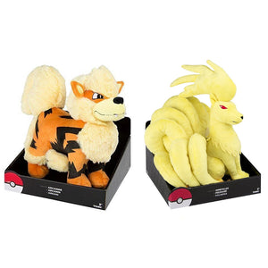(Sold as 1:1 Ratio) TOMY Pokemon Large Jumbo T19349 Arcanine & T19350 Ninetales Plush
