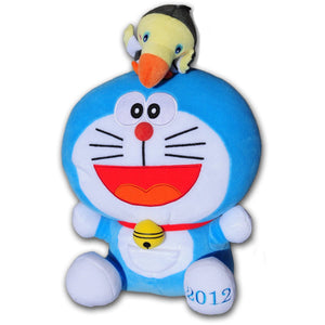 Sega Doraemon w/ Bird On Head Stuffed Plush, 17""
