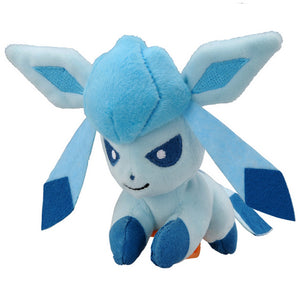 Takaratomy Pokemon Katanori Shoulder Clip-on Glaceon Plush, 4""