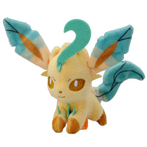 Takaratomy Pokemon Katanori Shoulder Clip-on Leafeon Plush, 4""