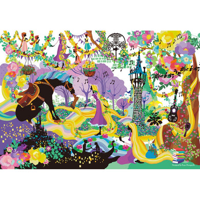 Tenyo (DS-1000-772) Disney Stained Art Brilliant Colors Rapunzel Jigsaw Puzzle (1000 Pieces)