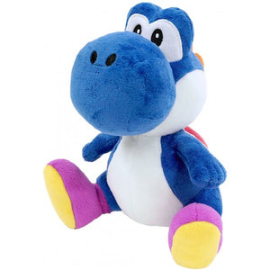 Little Buddy Super Mario All Star Yoshi - Dark Blue Yoshi Plush, 7""