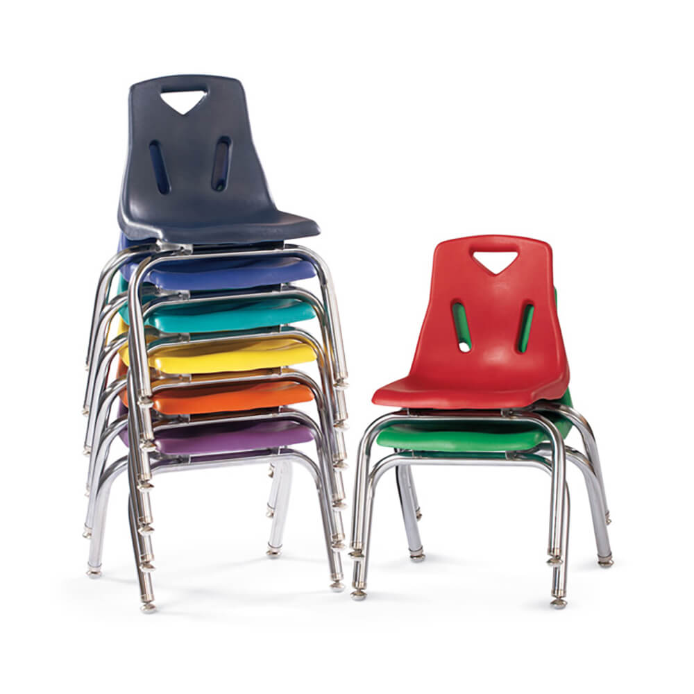 Berries® Stacking Chair with Chrome-Plated Legs, 10