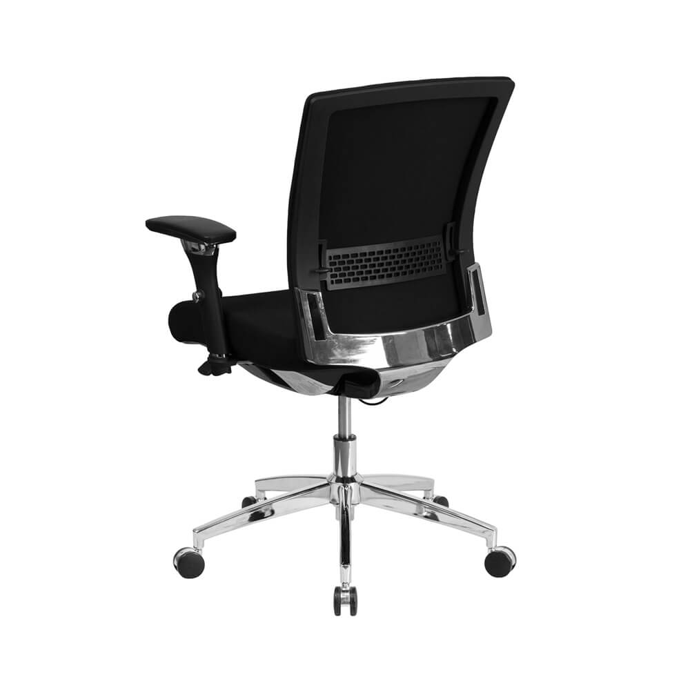Black Fabric Multifunction Executive Swivel Chair With Seat Slider