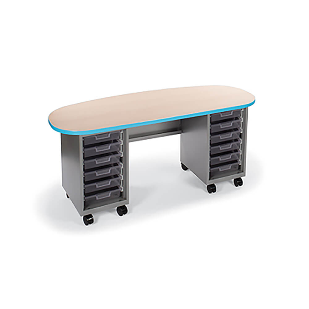 Cascade Teacher Desk – Double Pedestal, Double Bullet