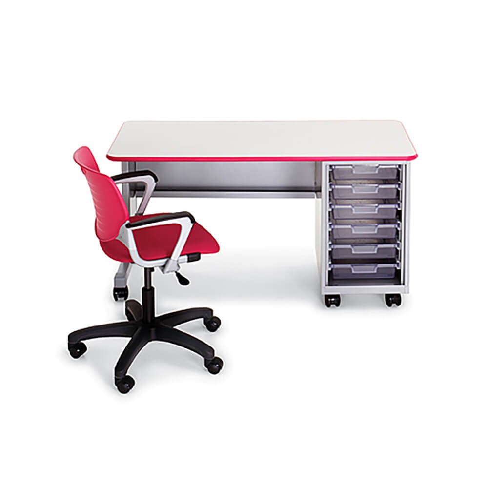 Cascade Teacher Desk – Single Pedestal