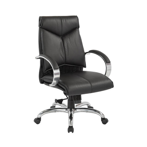 Deluxe Mid Back Black Chair