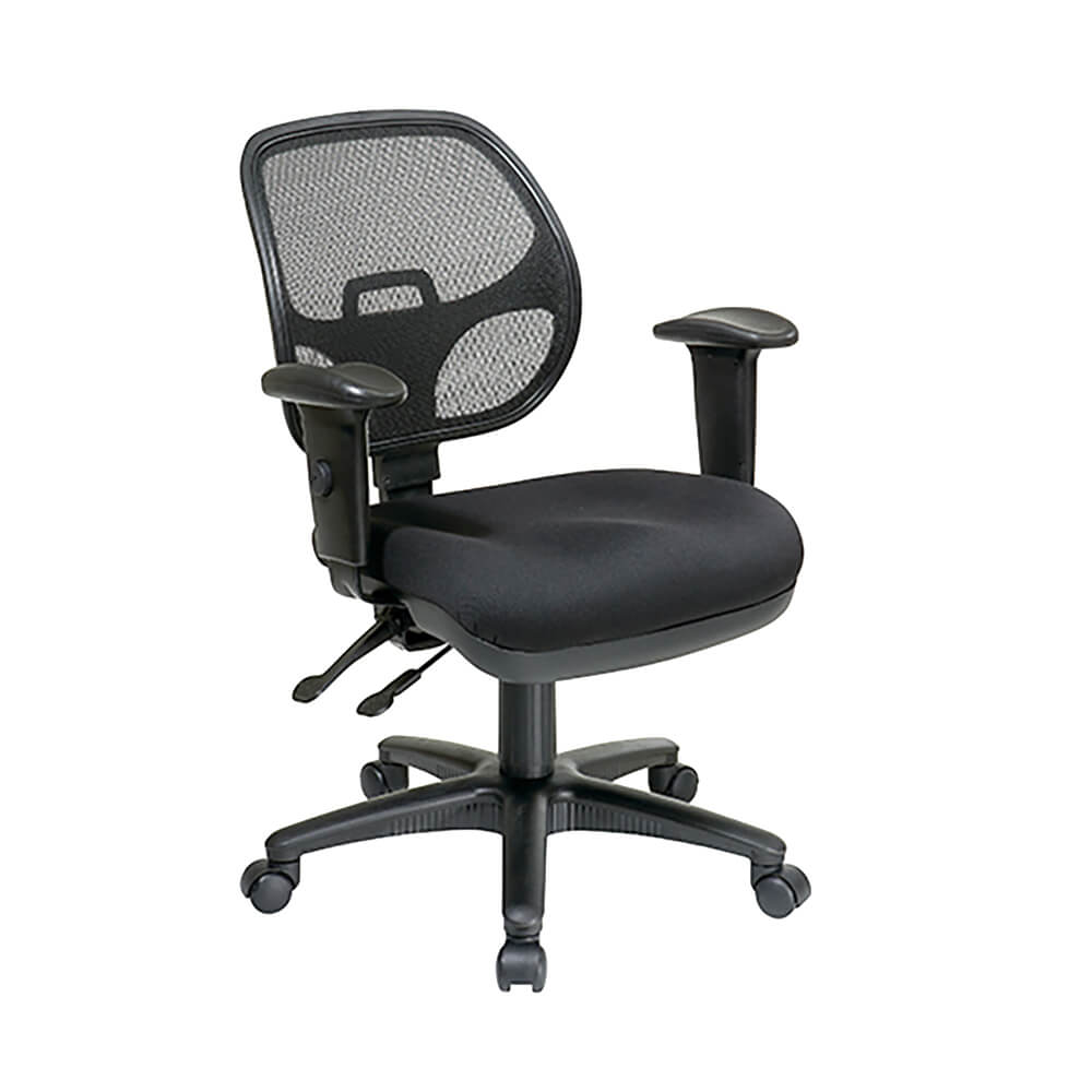 ergonomic task chair with progrid back and adjustable arms pro