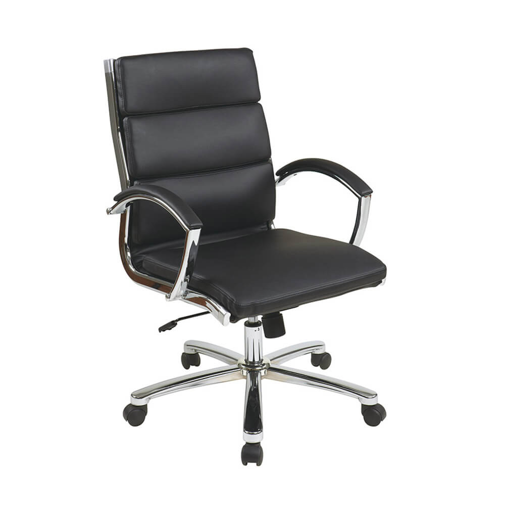sc 1 st  Pro Academy Furniture & Mid Back Executive Black Faux Leather Chair - Pro Academy Furniture