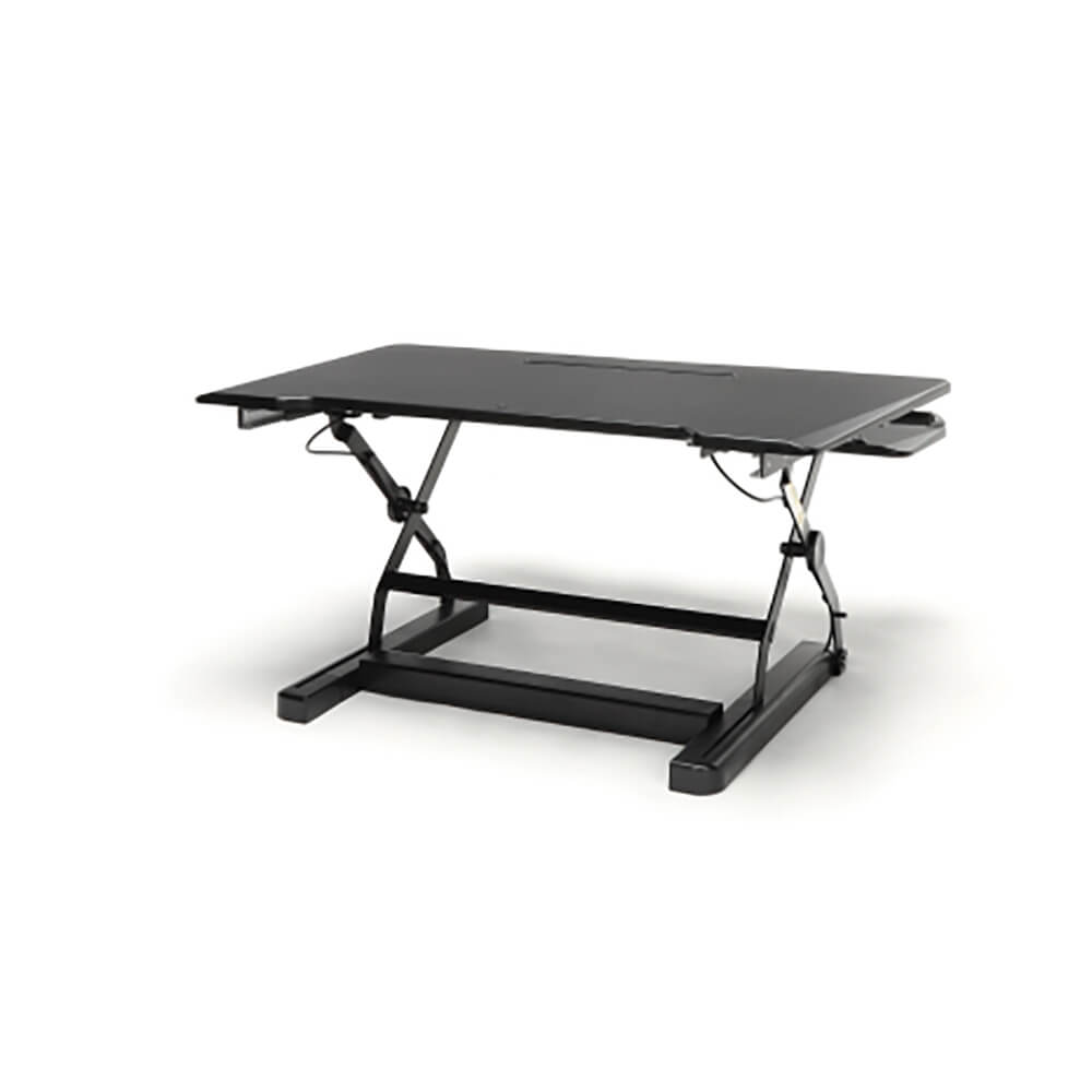 Model Ess-5136 Essentials By Ofm Adjustable Desktop Riser With Keyboard Tray