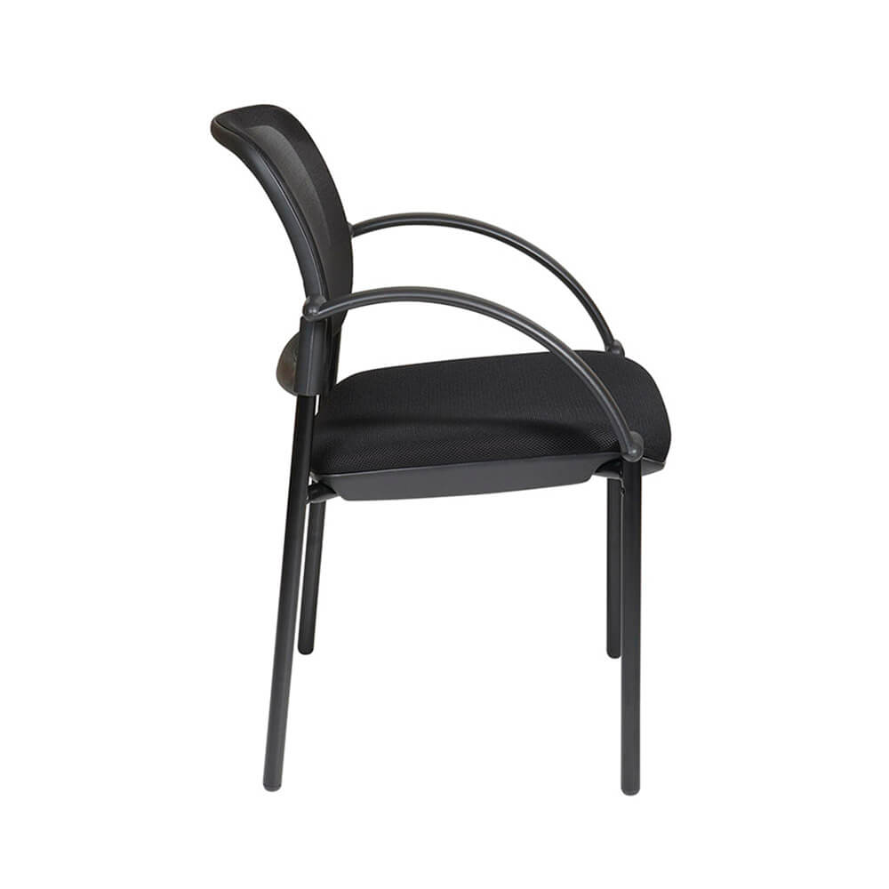screen back and mesh seat visitors chair with arms pro academy