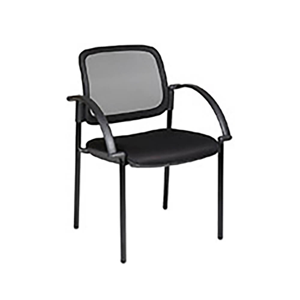 Screen Back And Mesh Seat Visitors Chair With Arms