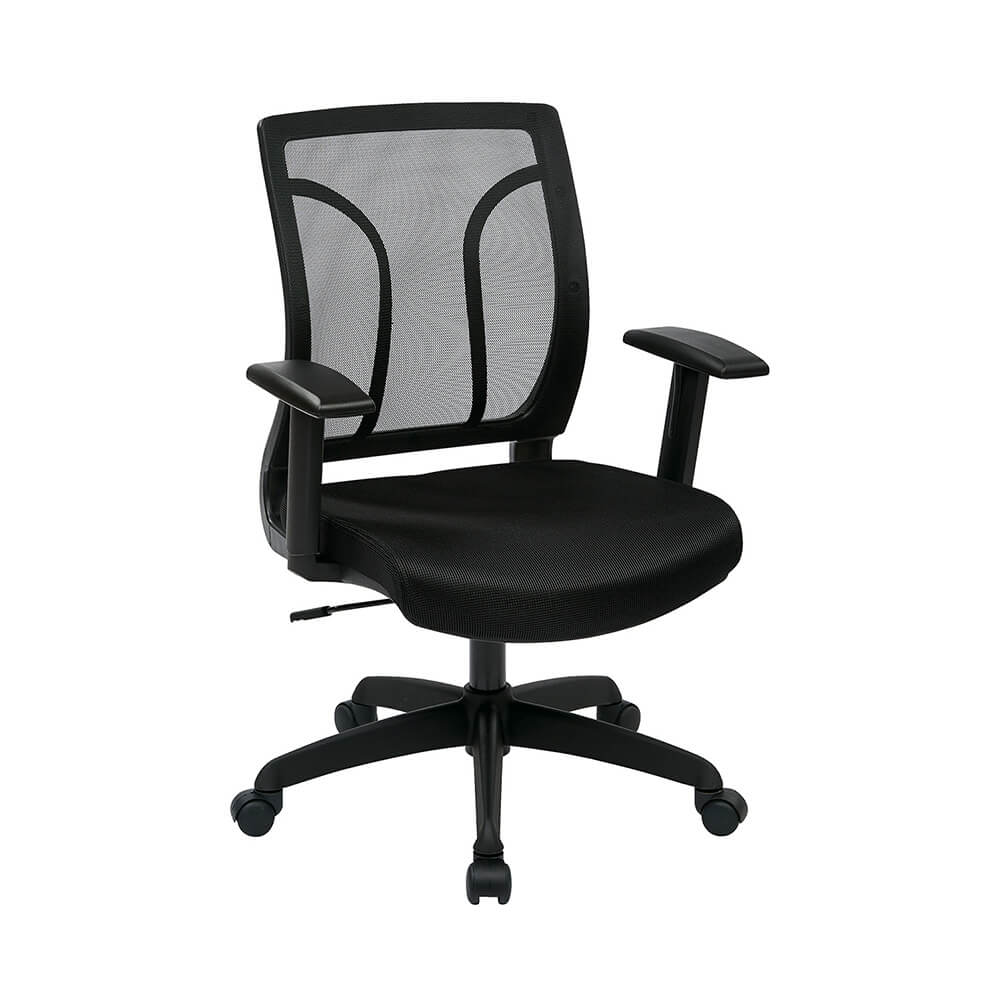Screen Back Chair With Mesh Seat