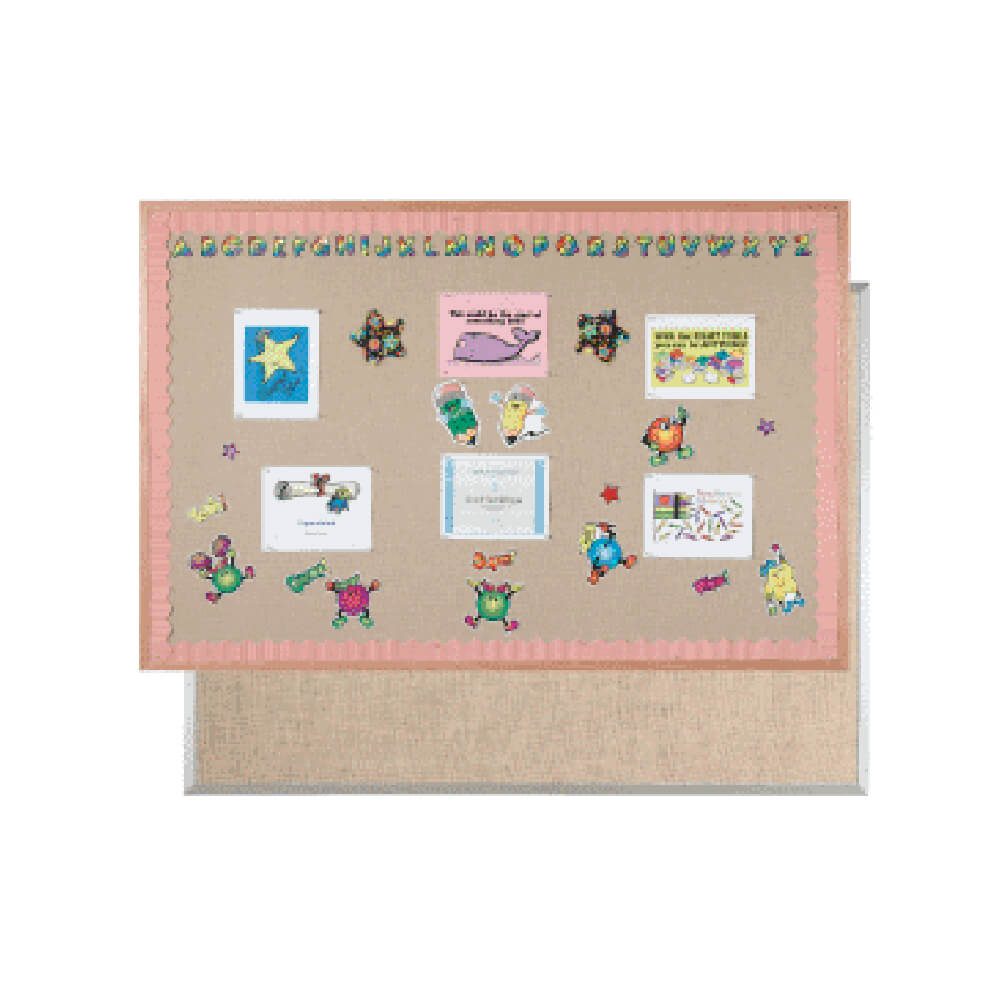 Standard Series Burlap-Weave Vinyl Bulletin Boards