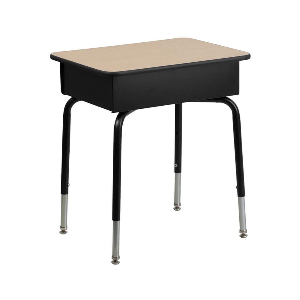 Student Desk With Open Front Metal Book Box, 22.25
