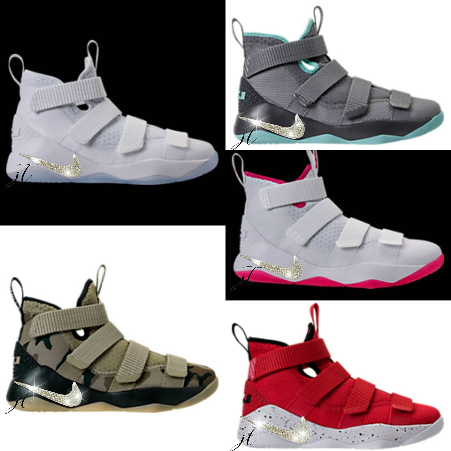 low priced 73fec 20dd3 50e92 b5585  best price nike lebron solider 11 customized with swarovski  crystals 33a05 72c1e