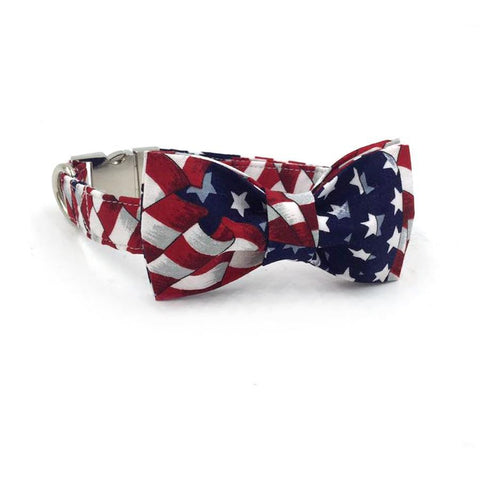 Stars and Stripes Bow Tie and Collar