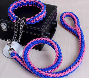 Multicolor Adjustable Collar Rope - Blue Pink