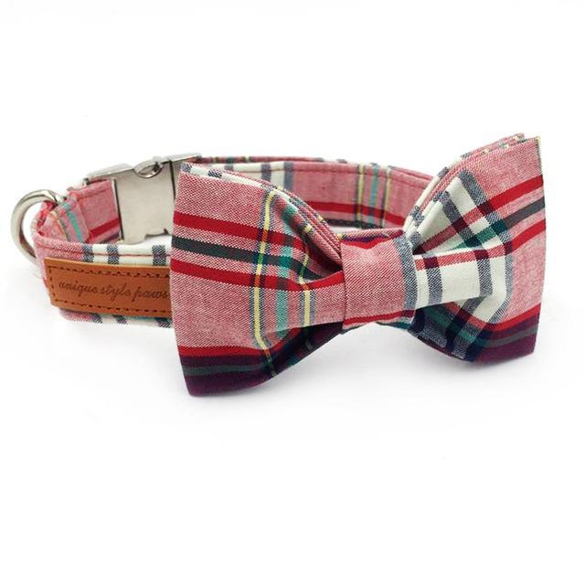 The Grace Plaid Bow Tie and Collar