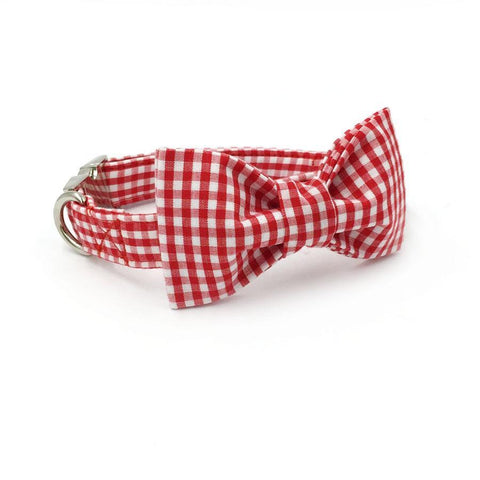 Red Striped Bow Tie and Collar