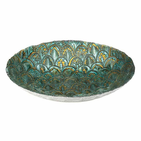Abstract Peacock Decorative Plate Living Room > Tabletop Decor