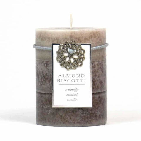Almond Biscotti Pillar Candle 3X4 Home Fragrances