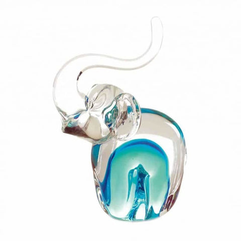 Art Glass Elephant Figurine Living Room > Tabletop Decor
