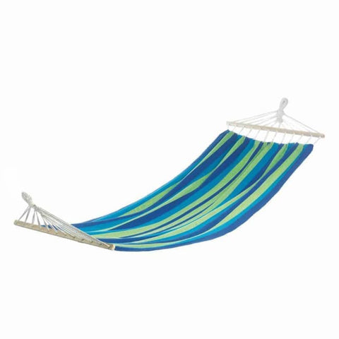 Bahama Blue Stripe Single Hammock Outdoor > Outdoor Furniture > Hammocks