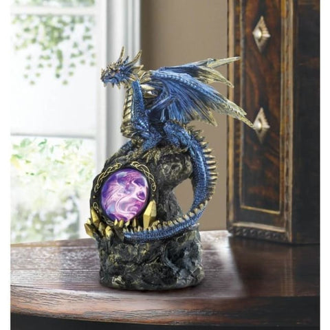 Blue Dragon On Rocks Statue Myth & Legend