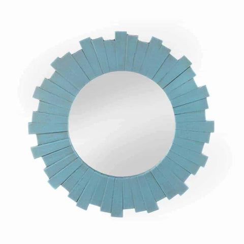 Blue Sunburst Wall Mirror Accents > Mirrors