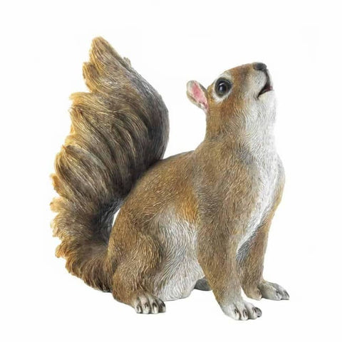 Bushy Tail Squirrel Figurine Patio; Lawn & Garden