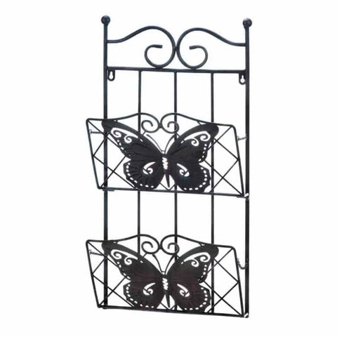 Butterfly 2-Tier Magazine Wall Rack Wall Storage