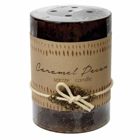 Caramel Pecan Pillar Candle 3X4 Christmas Catalog