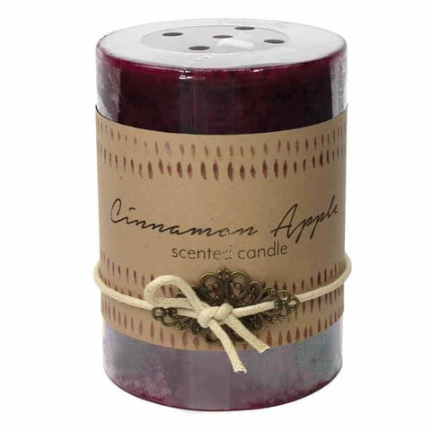 Cinnamon Apple Pillar Candle 3X4 Christmas Catalog