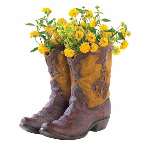 Cowboy Boots Planter Outdoor > Gardening > Planters