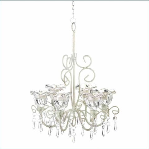 Crystal Blooms Candle Chandelier Lighting