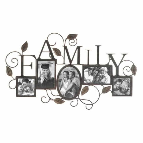 Family 5-Photo Wall Frame Picture Frames