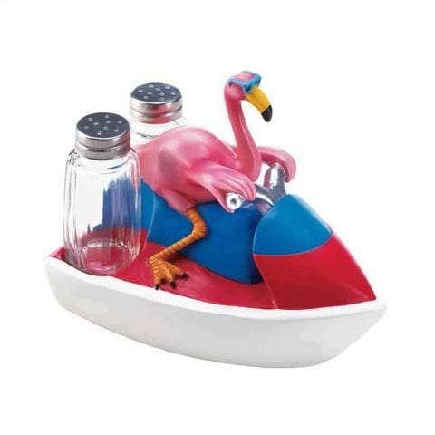 Flamingo Jet Skiing Shakers Kitchen & Dining