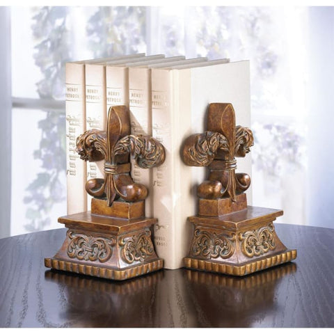 Fleur-De-Lis Bookends Living Room > Tabletop Decor