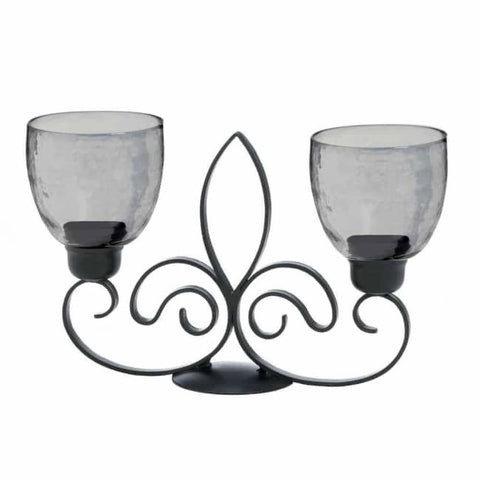 Fleur De Lis Duo Candle Stand Lighting