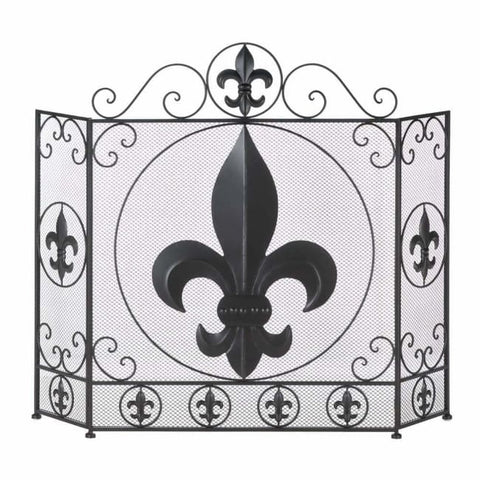 Fleur-De-Lis Fireplace Screen Fireplace Screen