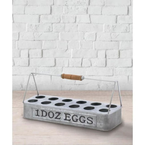 Galvanized Metal Egg Basket Living Room > Tabletop Decor