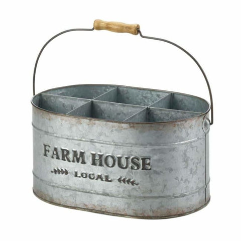 Galvanized Metal Wine Bucket Kitchen & Dining