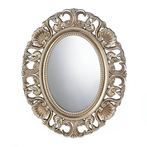 Gilded Oval Wall Mirror Accents > Mirrors
