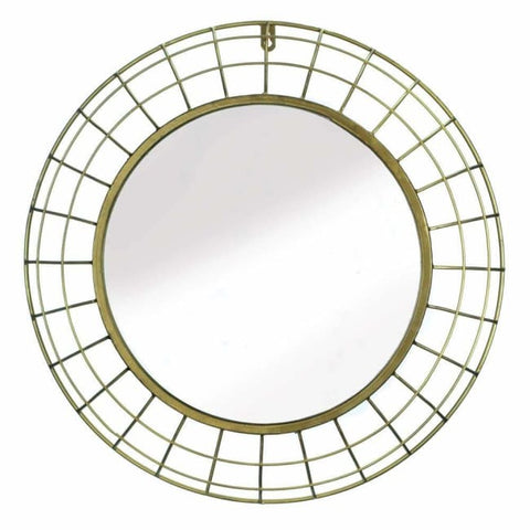 Golden Wire Dome Framed Wall Mirror Accents > Mirrors